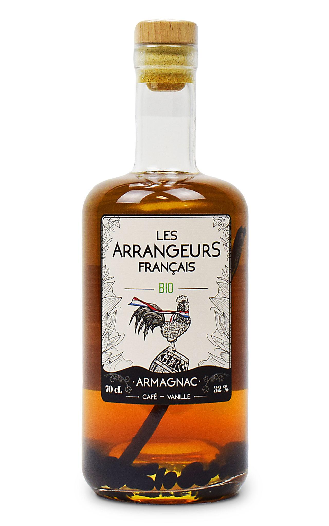 armagnac arrange cafe vanille bio bouteille les arrangeurs francais bouteille fabriquée dans le gers artisan