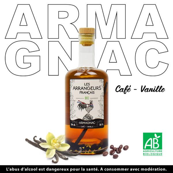 Armagnac Arrangé Café Vanille Les Arrangeurs Français Bio bouteille fabriquée dans le gers artisan