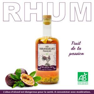 Rhum Arrangé Fruit de la passion Les Arrangeurs Français Bio bouteille fabriquée dans le gers artisan