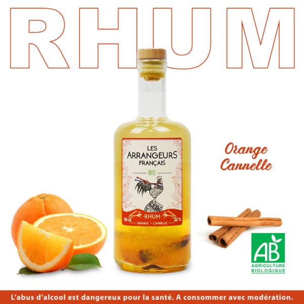 Rhum Arrangé Orange Cannelle Les Arrangeurs Français Bio bouteille fabriquée dans le gers artisan