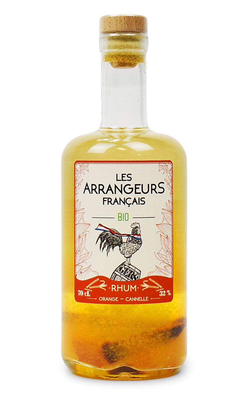rhum arrangé orange cannelle bio bouteille les arrangeurs francais bouteille fabriquée dans le gers artisan