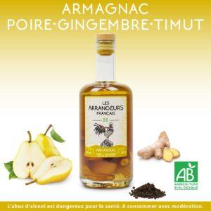 Armagnac Arrangé Poire Gingembre Poivre de Timut Les Arrangeurs Français