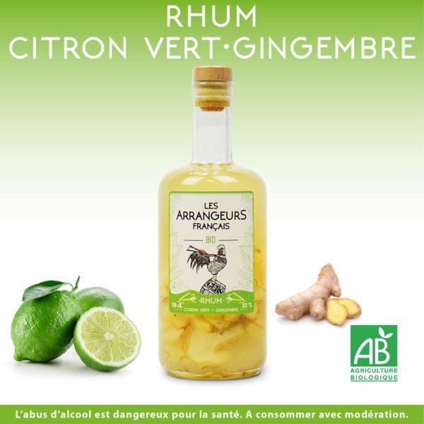Rhum Arrangé Citron Vert Gingembre Les Arrangeurs Français