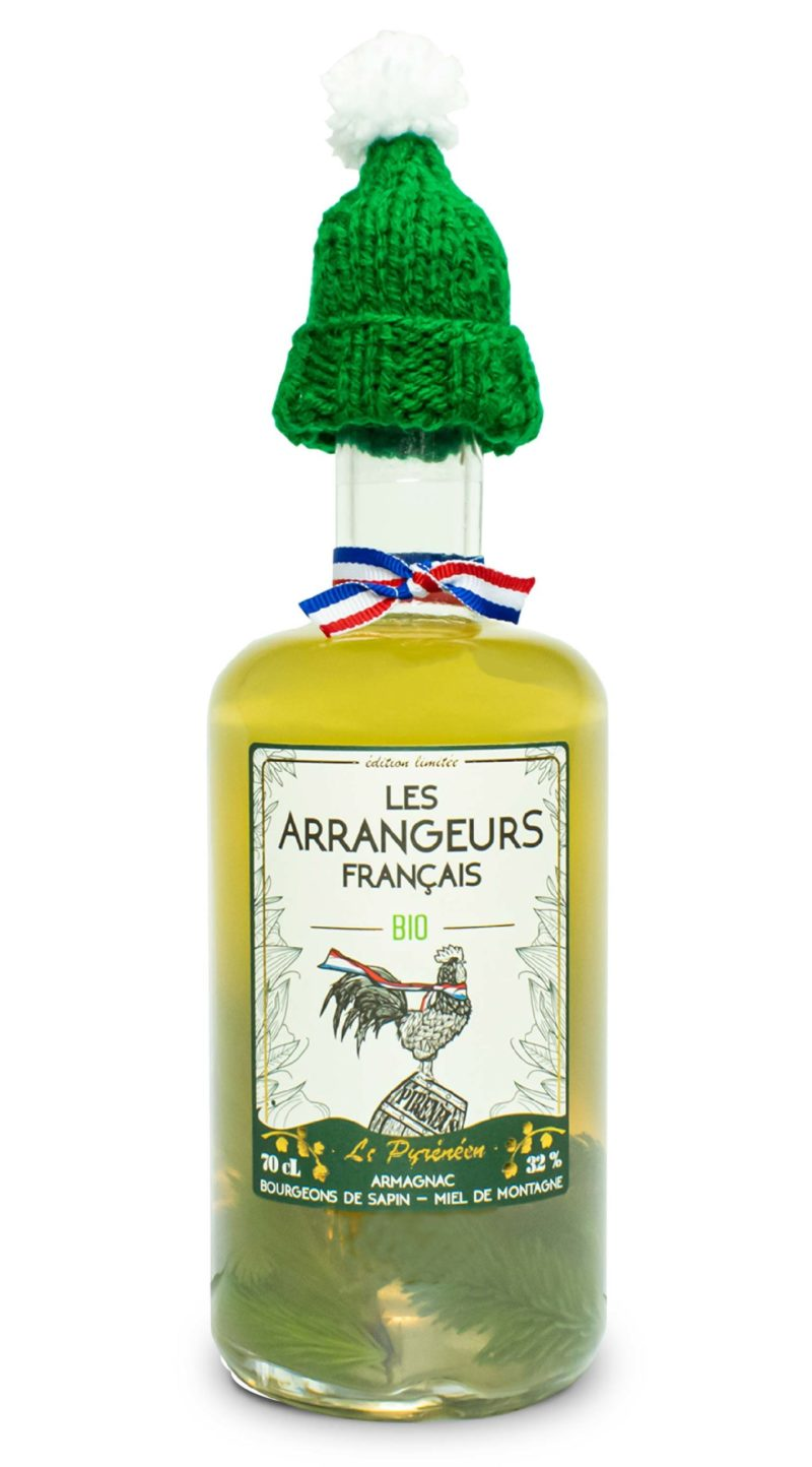 armagnac arrangé sapin miel pyrerees bio bouteille les arrangeurs francais bouteille fabriquée dans le gers artisan