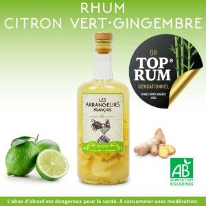 Rhum Arrangé Citron Vert Gingembre Les Arrangeurs Français Top Rum Or