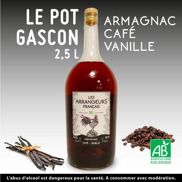 Pot Gascon 2,5L Armagnac Arrangé Café Vanille Les Arrangeurs Français