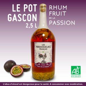 Pot Gascon 2,5L Rhum Arrangé Fuit de la Passion Les Arrangeurs Français